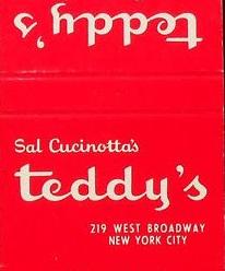 Teddy's matchbook
